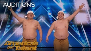 Blue Tokyo: Dancing Acrobats Wow Judges With Innovative Performance - America's Got Talent 2018 width=