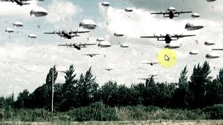 getlinkyoutube.com-Free Stock Footage Green Screen Airplanes and Paratroopers + Tutorial