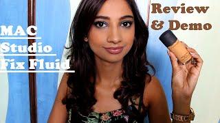 getlinkyoutube.com-Review & Demo Of MAC Studio Fix Fluid Foundation II Indian Beauty Guru