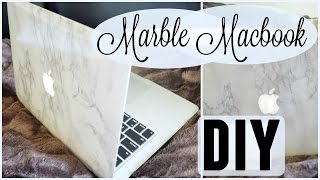getlinkyoutube.com-Marble Macbook Skin DIY⎮Hanna Charlotte