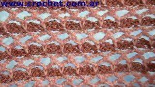 getlinkyoutube.com-Punto fantasía Nº 8 en tejido crochet tutorial paso a paso.