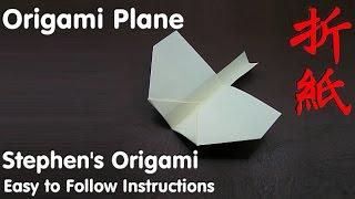 getlinkyoutube.com-How To Fold - Origami Plane - Easy step by step instructions