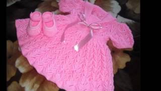 getlinkyoutube.com-Vestidos tejidos a crochet bebe