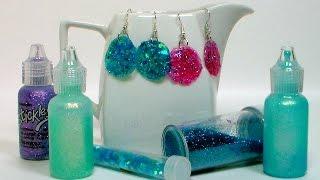 getlinkyoutube.com-DIY Glitter Glue Earrings!