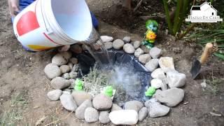 getlinkyoutube.com-Hazlo en casa Vie-15-Mzo Como hacer un estanque en el jardín y rehabilitación de césped