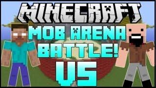 "getlinkyoutube.com-""HEROBRINE VS. NOTCH"" - Minecraft: Mob Battle Arena! - CLONES MOD!"