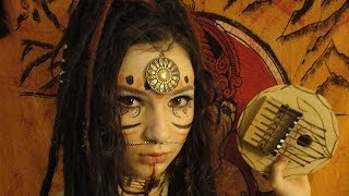 getlinkyoutube.com-Tribal make-up / Maquillage tribal