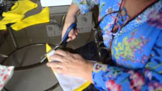getlinkyoutube.com-DIY : Como cortar e costurar saia godê e com abertura em cascata - Aula 26