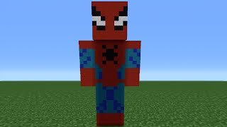 getlinkyoutube.com-Minecraft Tutorial: How To Make A Spiderman Statue