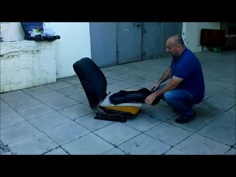 Как снять чехлы передних сидений OPEL Astra