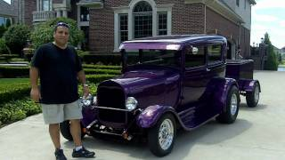 getlinkyoutube.com-1929 Ford Model A Custom Streed Rod Classic Muscle Car for Sale in MI Vanguard Motor Sales