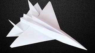 getlinkyoutube.com-How to make an F15 Eagle Jet Fighter Paper Plane - Crazy Max