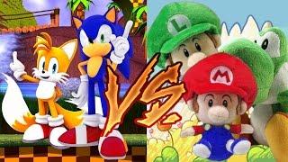 getlinkyoutube.com-Sonic Plush: Sonic v Baby Mario