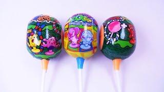 getlinkyoutube.com-3 Chupa Chups Surprise Eggs with amazing sticky toys SE&TU