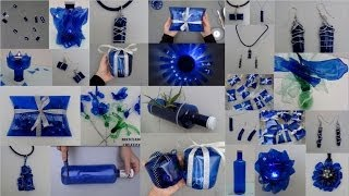 getlinkyoutube.com-Ideas creativas para reciclar botellas de plástico azules Top 10 ideas recycling plastic bottles