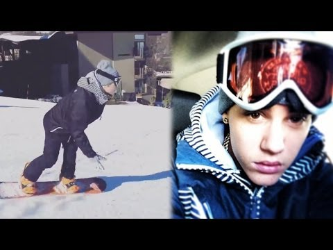 Justin Bieber Strip Club and Snowboarding Crazy Weekend! Photos and Details!