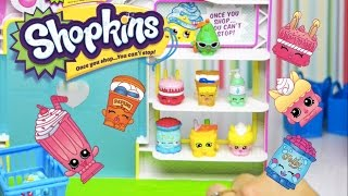 getlinkyoutube.com-Opening Shopkins 12 pack and set up the Small Mart Playset - Kids Toys