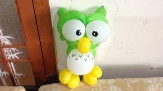 getlinkyoutube.com-造型氣球 貓頭鷹 owl balloon twisting
