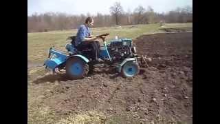 getlinkyoutube.com-Мини трактор из мотоблока с фрезой