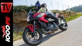 getlinkyoutube.com-Review  | Honda NC750X Test - Action, On board, Sound