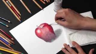 getlinkyoutube.com-COLORED PENCIL: How to Blend Colored Pencil with Solvents