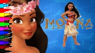 getlinkyoutube.com-DISNEY MOANA Coloring Book Pages Kids Fun Art Activities Learning Color Videos For Brilliant Kids