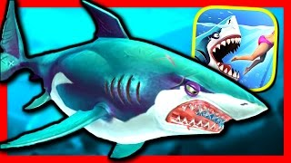getlinkyoutube.com-GREAT WHITE SHARK - Hungry Shark World - Part 9 - BIGGEST SHARK IN THE GAME?! (iPhone Gameplay)
