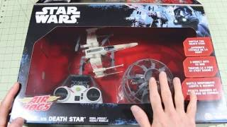 getlinkyoutube.com-Air Hogs STAR WARS X-Wing vs Death Star Drone Combat Rebel Assault Unboxing and First Flights