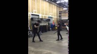 Matt Daddario & Dom Sherwood choreographed fight - Shadowhunters - Recorded by Cassie Clare
