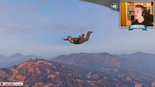 getlinkyoutube.com-Justice! The Batcave & Skydiving! - Grand Theft Auto 5