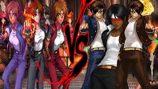 getlinkyoutube.com-King of Fighters 2002 Unlimited Match - Now with select-able female Kyo clones!