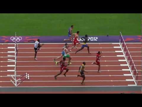 Aries Merritt (Olympic Champion) Wins Olympic 2012 110m Hurdles Rd 1! (Filmed Live in HD)