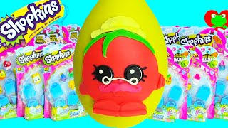 getlinkyoutube.com-Shopkins Limited Edition Hunt and Papa Tomato Play Doh Surprise Egg