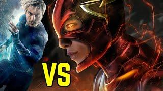 getlinkyoutube.com-DC The Flash vs Marvel Quicksilver | Battle of the Speedsters