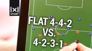 getlinkyoutube.com-Football/ Soccer Tactics: 4-4-2 vs. 4-2-3-1