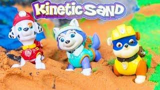KINETIC SAND Nickelodeon Paw Patrol Play in Kinetic Sand Toys Video