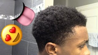 How To Get Curly Hair For Black Men| Short Curly Hair| Natural| Routine