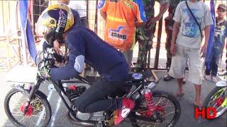Drag Bike Seru RX KING VS FORCE 1   Rx King Di Bantai Abizzz