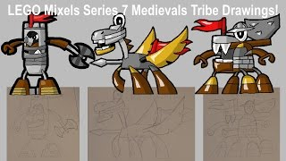 LEGO Mixels SERIES 7 Medievals Tribe Drawings!