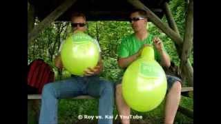 "getlinkyoutube.com-balloon contest - blow to pop race - B2P - Belbal 12"" - Marché"