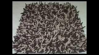 getlinkyoutube.com-Tapetes decorativos en cordon lycra elaborados a mano