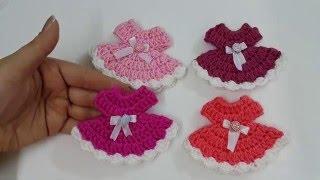 getlinkyoutube.com-How to crochet mini dress  كروشيه ميني فستان توزيعات