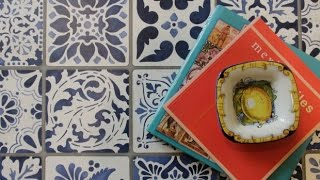 getlinkyoutube.com-How to Stencil Tutorial: Painting a Tile Vintage Table Makeover with Annie Sloan Chalk Paint