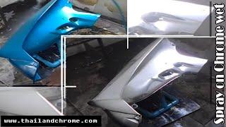 getlinkyoutube.com-Spray on Chrome on Motor Parts