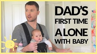 getlinkyoutube.com-Dad Left Alone With Baby! (Funny Ad)