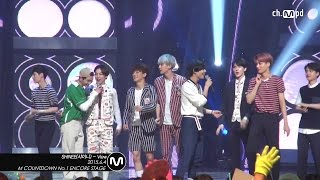 getlinkyoutube.com-[MPD직캠] 샤이니 1위 앵콜 직캠 with 엑소 View SHINee Fancam No.1 Encore with EXO Mnet MCOUNTDOWN 150604