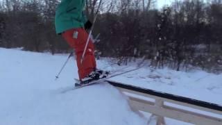 getlinkyoutube.com-Urban Skiing PVC Pipe Rail