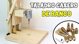 getlinkyoutube.com-Cómo hacer un Taladro Casero de Banco   Mini Taladro Casero con Motor