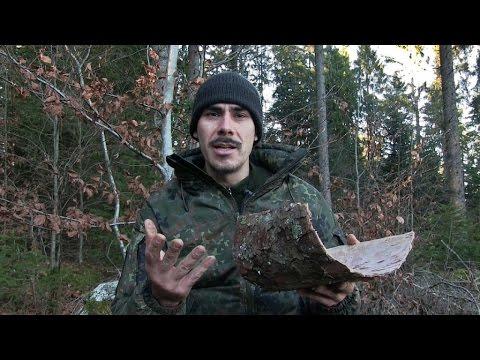 Wie ich versuche einen Kochtopf aus Rinde herzustellen - Waldläufer Ausrüstung selber machen.