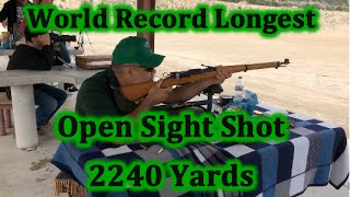 getlinkyoutube.com-World Record Attempt Open Sight Shot 2240 yards Ernest Jimenez Unmodified K31 Swiss - 7.5×55mm Swiss